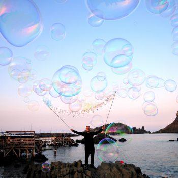 Effetto pioggia di bolle