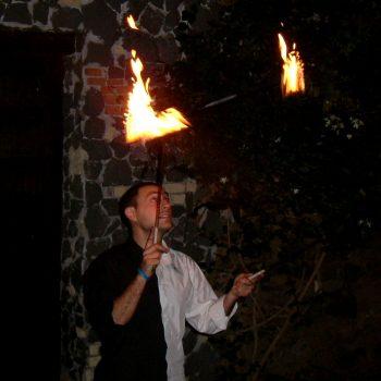 Devil Stick di fuoco